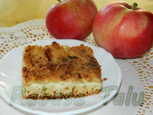 Õuna-kohupiimapurukook